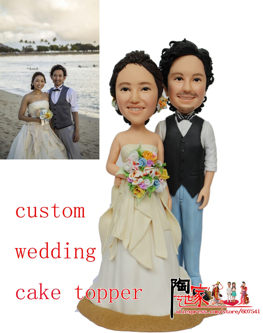 Custom Funny Wedding Cake Topper Bride And Groom Personalized Mr Mrs In Decorating Supplies From Home