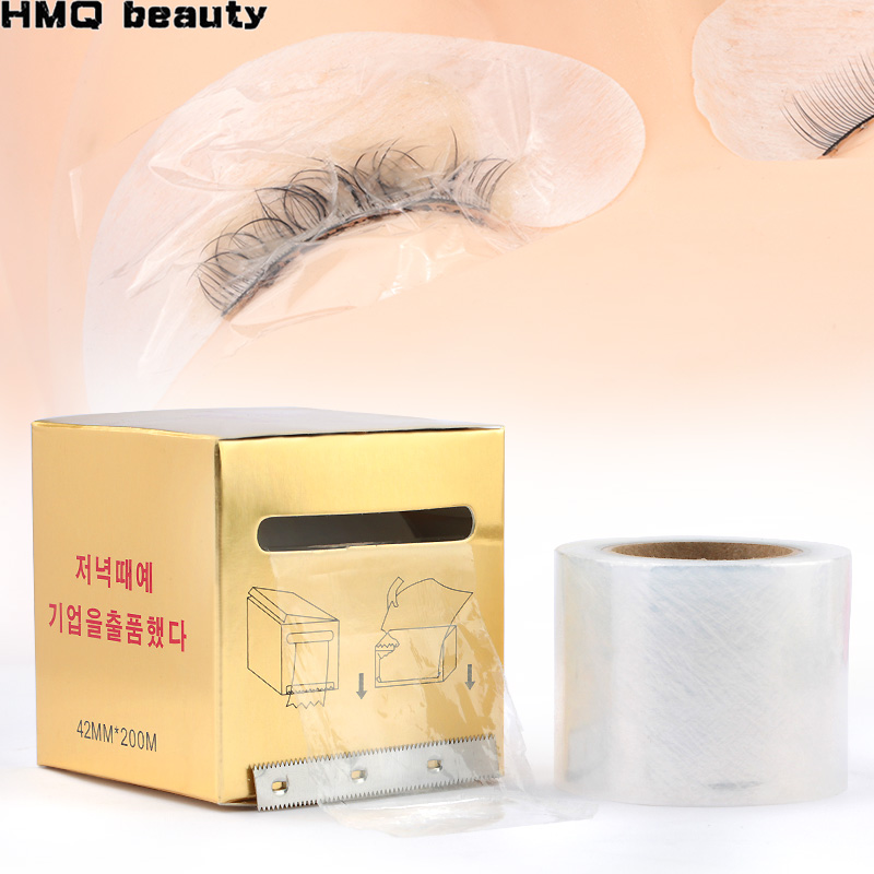1 Box Eyelash Remover Clear Plastic Wrap Eye Use Preservative Film Professional False Eyelashes Extension Permanent Makeup Tool(China)