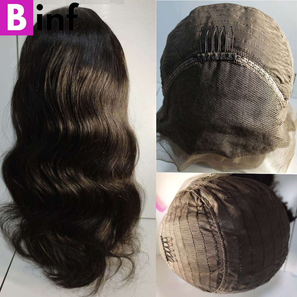 BINF Brazilian Lace Wig Frontal Pre Plucked With Baby Hair Body Wave Lace Front Human Hair