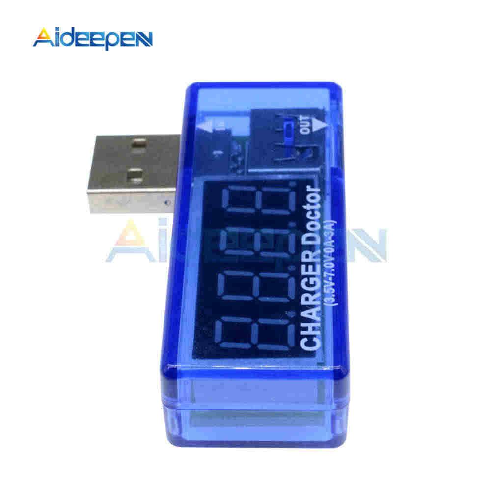 Affichage mini LED numérique USB voltmètre ampèremètre puissance courant tension mètre testeur Portable USB Volt Amp chargeur docteur détecteur