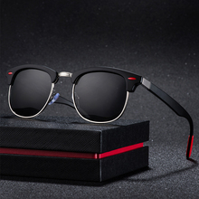 ALIKIAI Retro Polarized Sunglasses Men Women 2019 Rivet Square UV400 Black Color