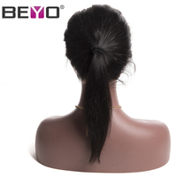 Beyo Brazilian Straight Hair 360 Lace Frontal With Baby Hair Pre Plucked Human Hair Closure Natural