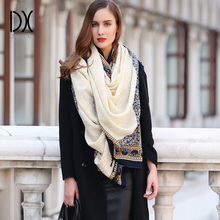 Wool Ladies Scarf Shawl Printed New Arrival Solid Long Scarves Wraps 100% Pure 245*110cm Royal  Pashmina