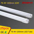 T8 Led Tube Light 1200mm 22w 120cm 1.2m  Led Lamp, smd2835 110v 220v, FEDEX Free Shipping, 25pcs/lot