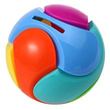 Children 3D DIY Assembly Blocks Plastic Colorful Piggy Bank Educational Assembling Ball Bricks Random Color