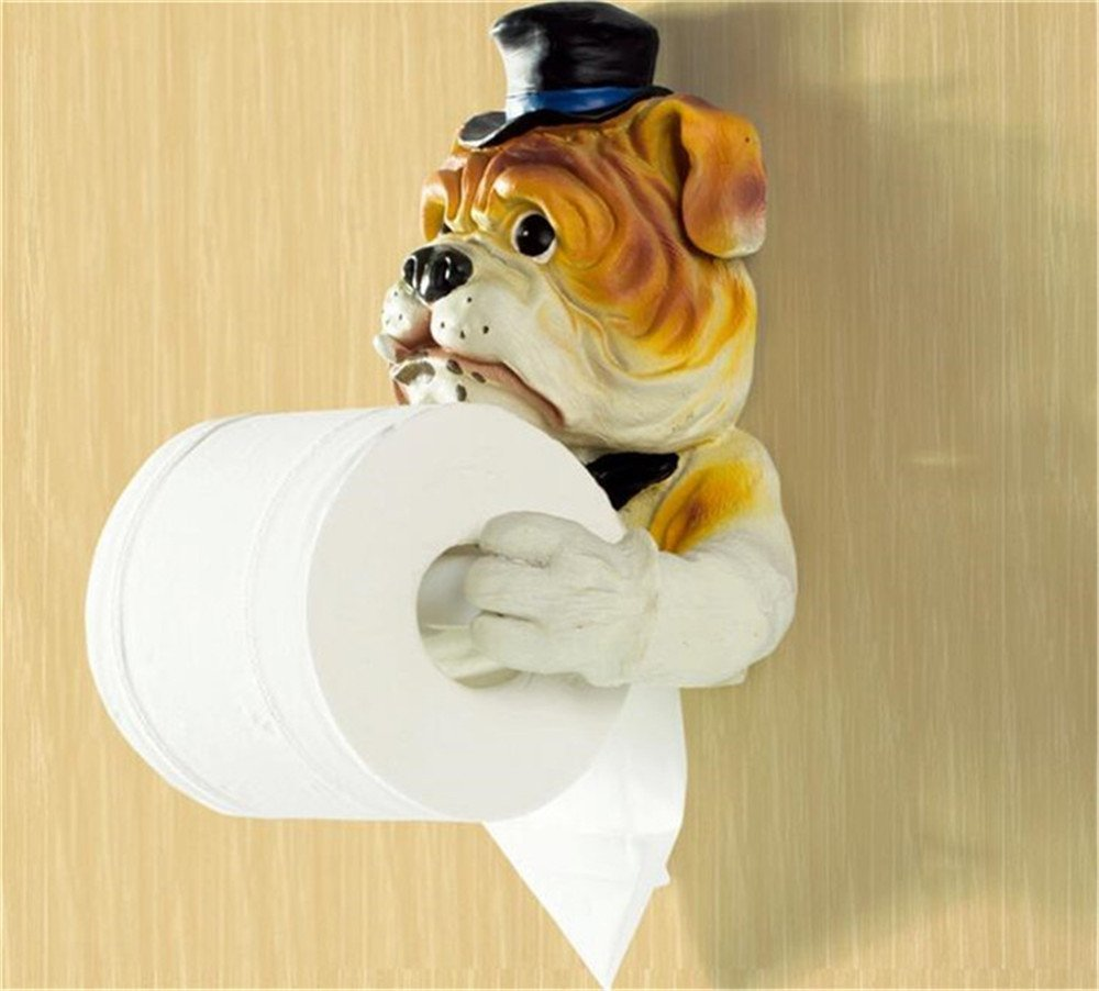 Creative Bathroom Toilet Paper Holder, Super Lovely Housekeeper Dog Towel  Holder, Kitchen Tissue Paper Roll Holder In Tissue Boxes From Home U0026 Garden  On ...