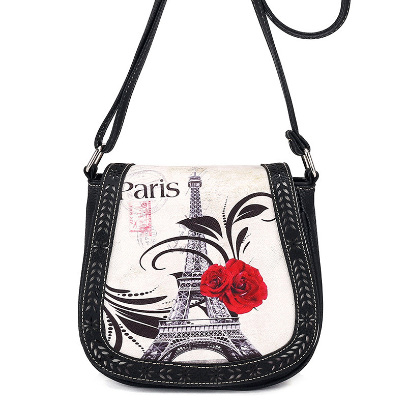 Women Shoulder Bag Women Printing Leather Messenger Bag Lady Shoulder Bag Handbags Dark Blue Sacoche Femme #xqx shoulder bag