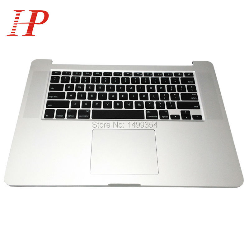 Original Late 2013 Year For Apple Macbook Pro 15'' Retina A1398 Palm Rest Topcase With Keyboard And Touchpad US/UK Version original 2013 2014 year a1502 topcase with keyboard for apple macbook pro 13 retina a1502 palm rest with keyboard us spain uk