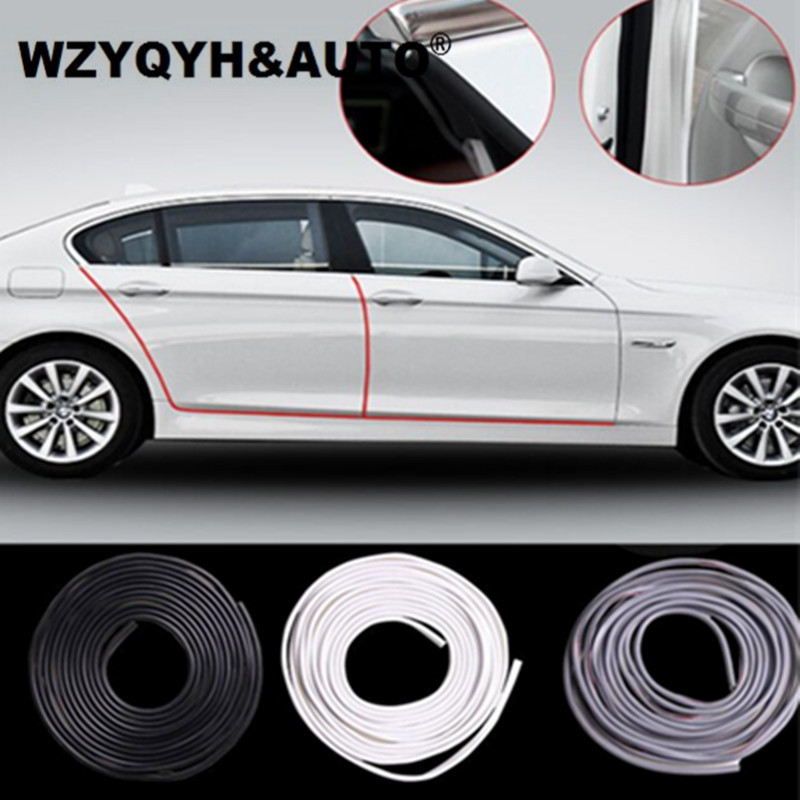 Car Anti Collision Door Collision Avoidance Stick Rubber Strip Decoration Stickers For Mazda Honda Kia VW Honda Hyundai lada 1 pair door protector anti collision canada flag emblem 3d car stickers creative car styling automobile accessories