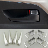 Car Auto Cover Styling For Toyota RAV4 2016 ABS Chromium Interior Inner Door Handle Handrail Accessories