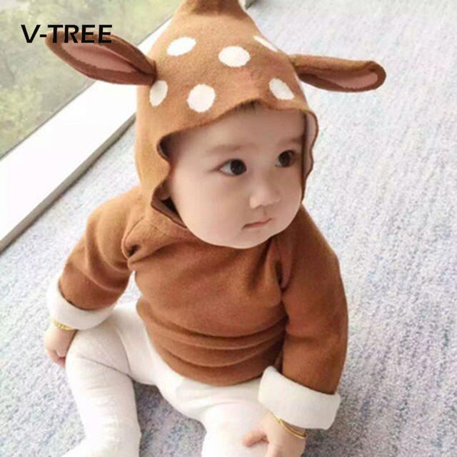 Novos Meninos Do Bebê Meninas Camisola Crianças Roupas De Natal Veados Estilo Crianças Blusas Meninas Moda Outerwear Malha