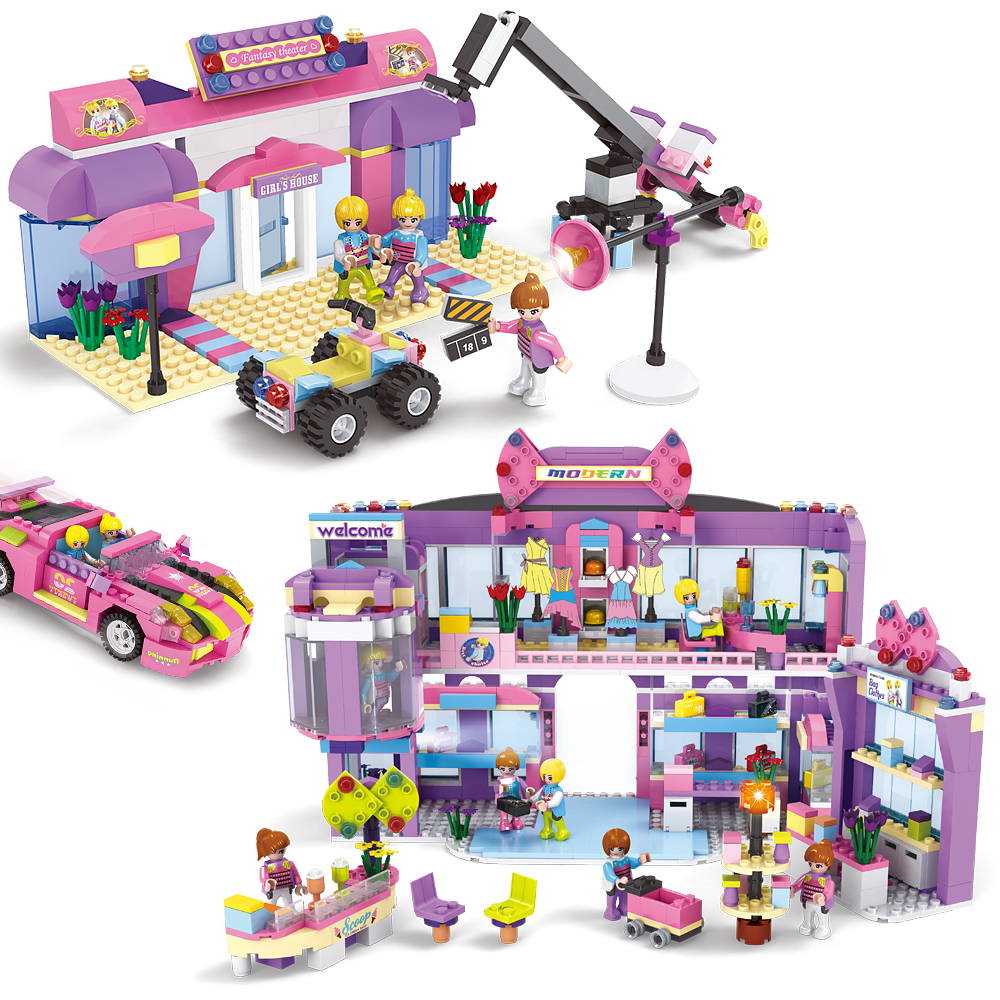 ФОТО Princess 500pcs-892pcs Building Block Figures & Houses Girl mini-doll figures Toy Compatible With band Friends Learning Toys
