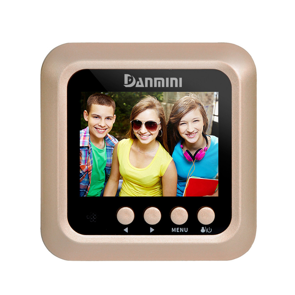 DANMINI 2.4 inch LCD 160 Degree Digital Peephole Door Camera Viewer Door Eye Doorbell Wireless Doorbell Camera Home Door Camera цена