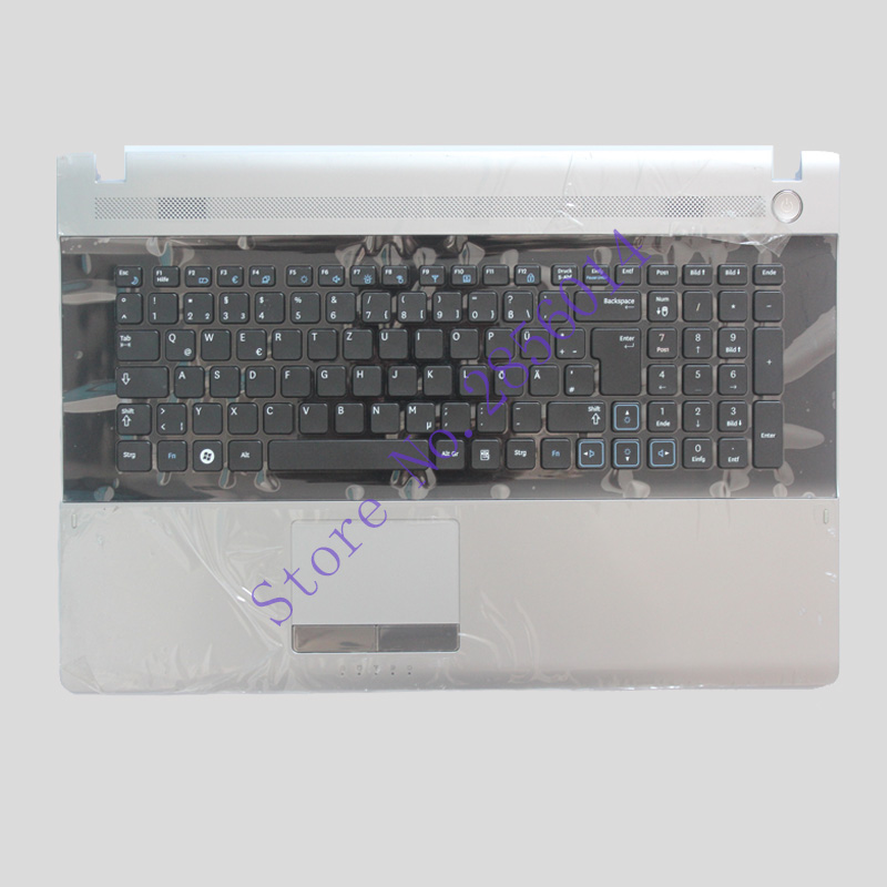 NEW GR For Samsung NPRV711 NPRV710 NPRV720 RV711 RV710 RV720 keyboard german laptop keyboard with C shell for samsung q530 keyboard c shell top page 2