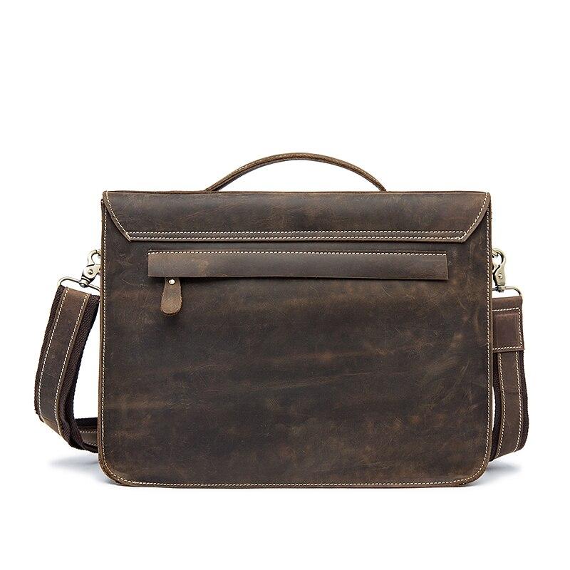 MVA męska teczki prawdziwej skóry torba na Laptop torba męska komputera/biuro Messenger torby Crazy Horse skórzane torebki teczki w Teczki od Bagaże i torby na  Grupa 2