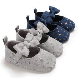 Buty dziecięce buty buciki maluch niemowlę dziewczyna miękka podeszwa łuk gwiazdy pojedyncze buty dla nowo narodzonych zapatos bebe chaussure|Pierwsze kroki|Matka i dzieci -