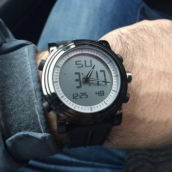 Relogio Masculino SINOBI sport cyfrowy kwarcowy zegarek na rękę wodoodporny zegarek kwarcowy męski genewa Hybird zegarki erkek kol saati tanie i dobre opinie 19 5cm STAINLESS STEEL Klamra 3Bar Moda casual Cyfrowe Zegarki Na Rękę 36mm RUBBER 10mm Hardlex Kompletna kalendarz