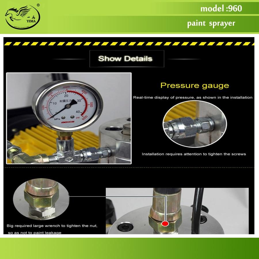 Elektrický vysokotlaký bezvzduchový stříkací stroj, model 960, - Sady nástrojů - Fotografie 6