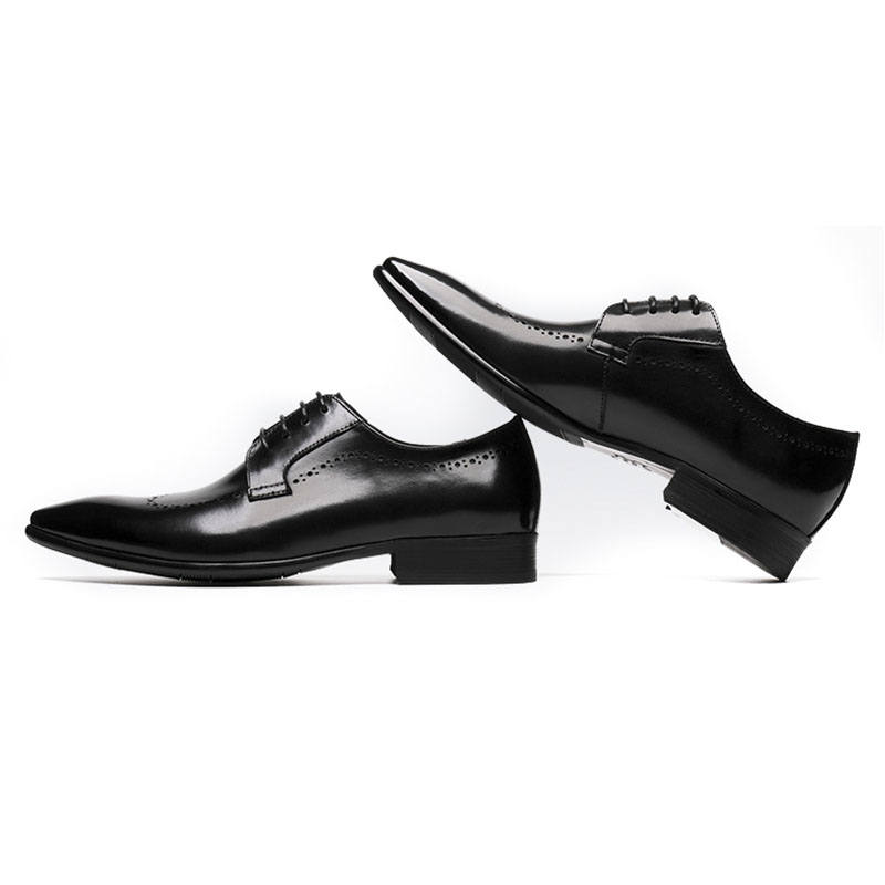 9dd54f52ee8 Boda Formal Genuino La De Zapatos Black Up Negro Diseñador Italiano  Negocios Vestir Cuero Grimentin Hombres ...