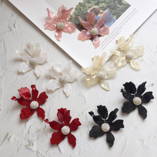 Ztech 7.3*5.9cm Exaggerated irregular geometry personality grand fashion acrylic petal earrings for women party jewelry