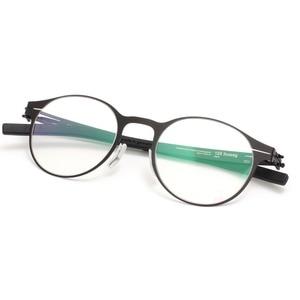 Image 2 - Wysokiej jakości unikalna konstrukcja IC markowe okulary rama mężczyźni i kobiety ultralekkie ultracienkie oprawki do okularów okulary na receptę