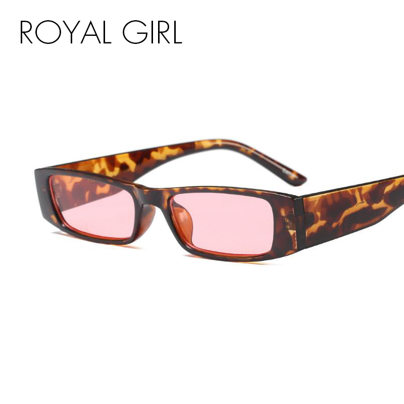 ROYAL FILLE Rectangle Femmes lunettes de Soleil De Mode Lunettes de Soleil Lady Marque Designer Vintage Shades Lunettes Oculos de sol UV400 SS059