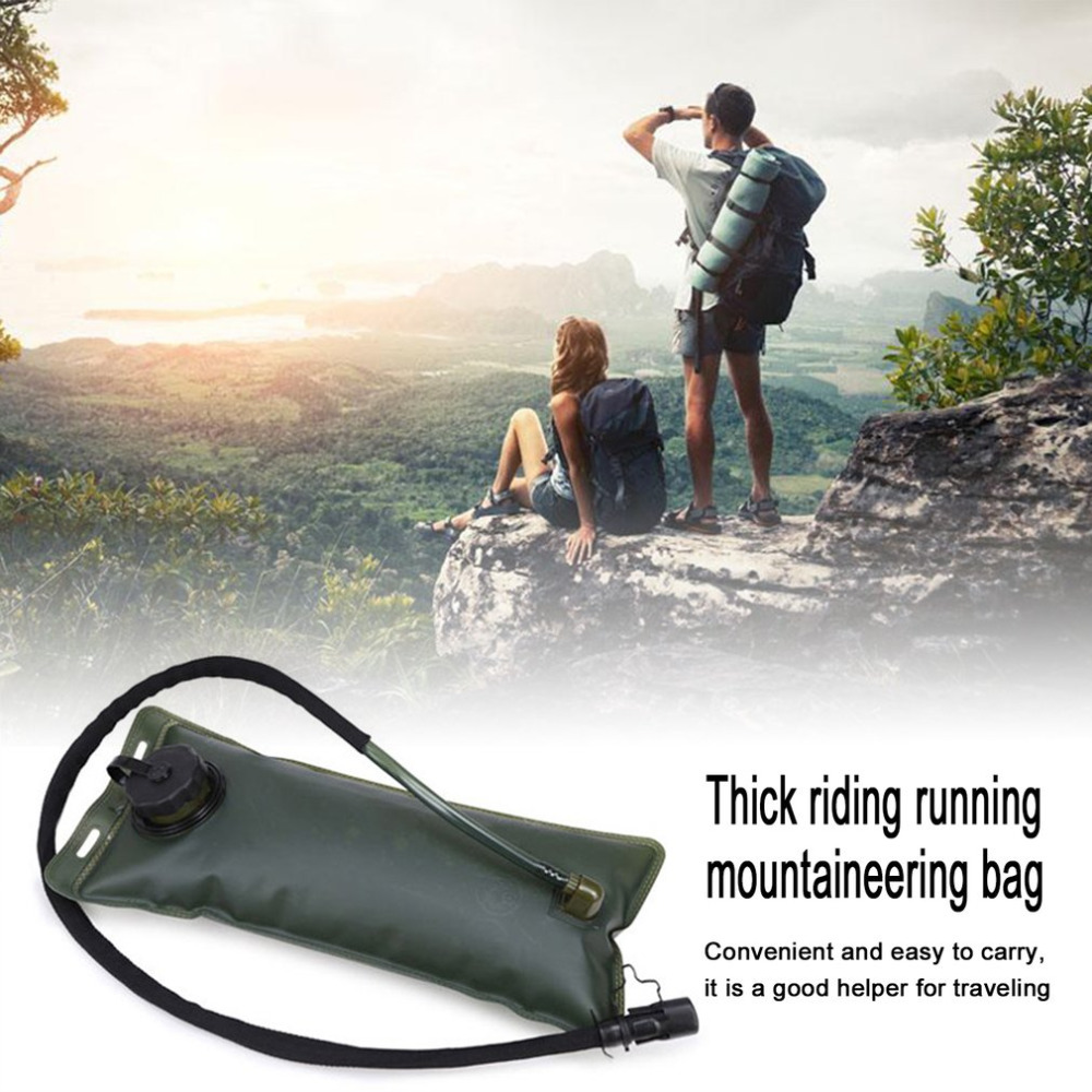 Outdoor Portable Thickened Folding Water Bladder Tube Bag For Outdoor Sport Running Camping Hiking Mountain Cycling Drink Pouch Camping & Hiking