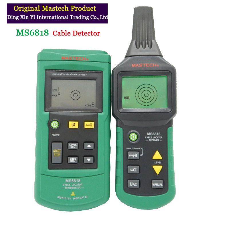 Digital MASTECH MS6818 advanced wire tester tracker multi-function Cable detector 12~400V Pipe Locator Meter With cloth bag mastech ms6818 portable instruments professional cable locator wire tracker pipelines detector tester ac dc voltage 12 400v