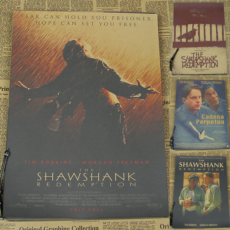 The Shawshank Redemption classic old movie posters retro