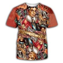 PLstar Cosmos Men Women Print Retro Antiwar Michael Jackson T-shirt Short sleeve O-neck Summer T shirt
