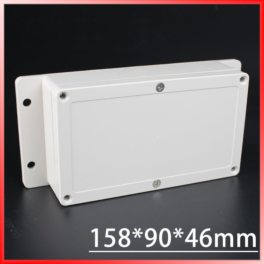 (1 piece/lot) 158*90*46mm Grey ABS Plastic IP65 Waterproof Enclosure PVC Junction Box Electronic Project Instrument Case 1 piece lot 320x240x110mm grey abs plastic ip65 waterproof enclosure pvc junction box electronic project instrument case