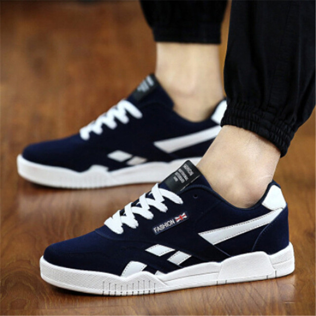 British Style Trend Sneakers For Men Skateboarding Shoes