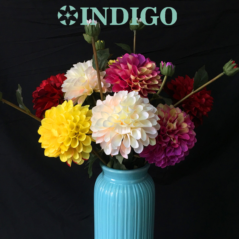 INDIGO- Wholesale 100 Dahlia With Bud Chrysanthemum Bouquet Wedding ...