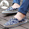 Sapatas de Lona de alta Qualidade Para Homens Moda Respirável Sapatos Casuais Condução Sapatos Flats Lace-up Sapato Novo da Alpargatas