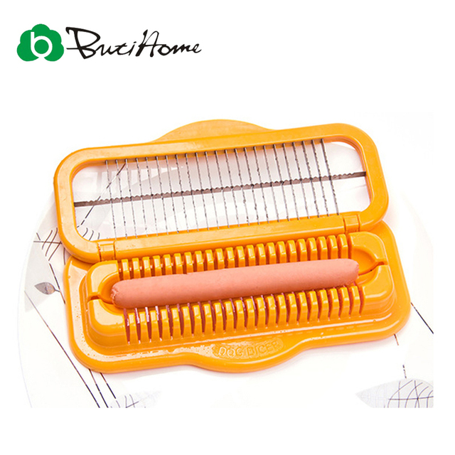 Big Size Hot dog Cutter Kitchen Tool Sausage Peeler Salad Tool Knife Ham Slicer Banana Cutter Creative Trancheur Device Gadget