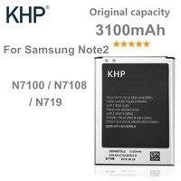 KHP Original Lithium Battery For Samsung Galaxy Note 2 II N7100 N7105 Real 3100mAh Capacity Replacement