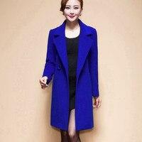 XUXI Female Fashion Women Woolen Coats High Elegant Long Slim Winter Jacket Royal Coats Wool Coat Jackets Plus Size 4XL FZ237