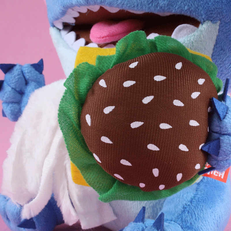 """Kawaii аниме плюшевые игрушки, Стич большой """"Лило и Стич"""" Стич мягкие куклы гамбургер мороженое яблоко Синий Stitchs детский подарок 30 см"""