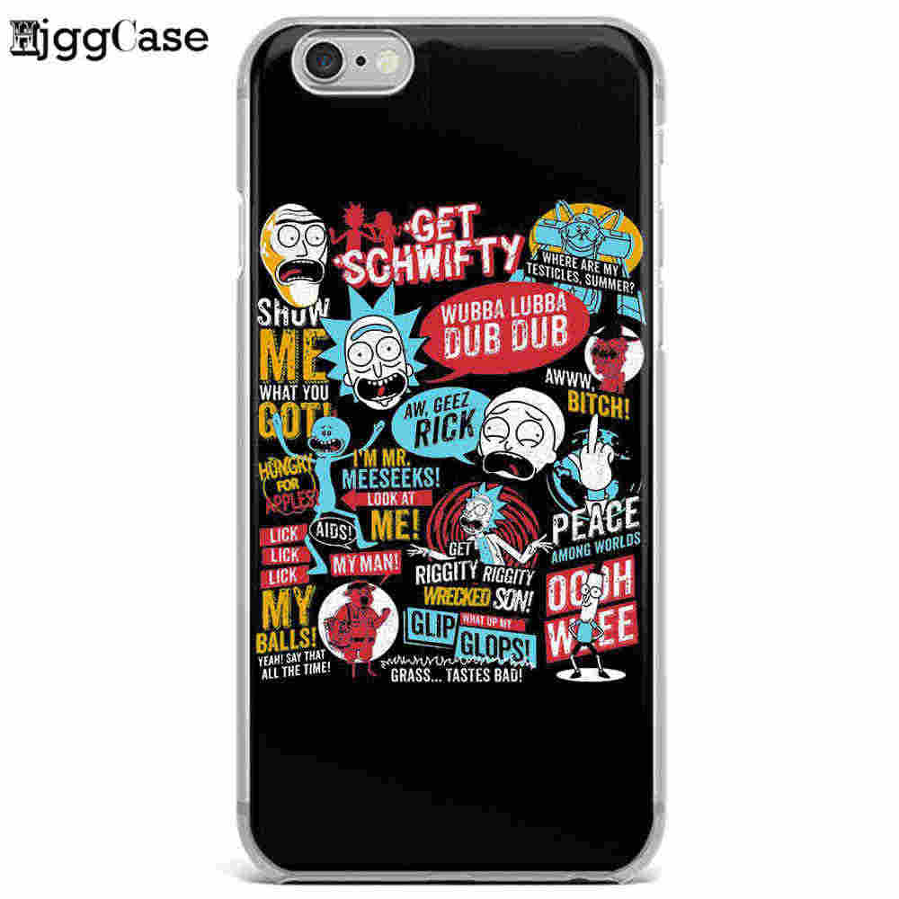 Lustige Cartoon Comic Meme Rick Und Morty TPU Weiche Silicon Phone Cases Abdeckung Für iphone 7 7 Plus 6 s 6 Plus 5 5 s SE 8 8 Plus X Fall