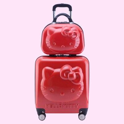 be9ed788e Hellokitty bolsa bolsa de viaje, 20 pulgadas de la carretilla 14 pulgadas  neceser, ruedas