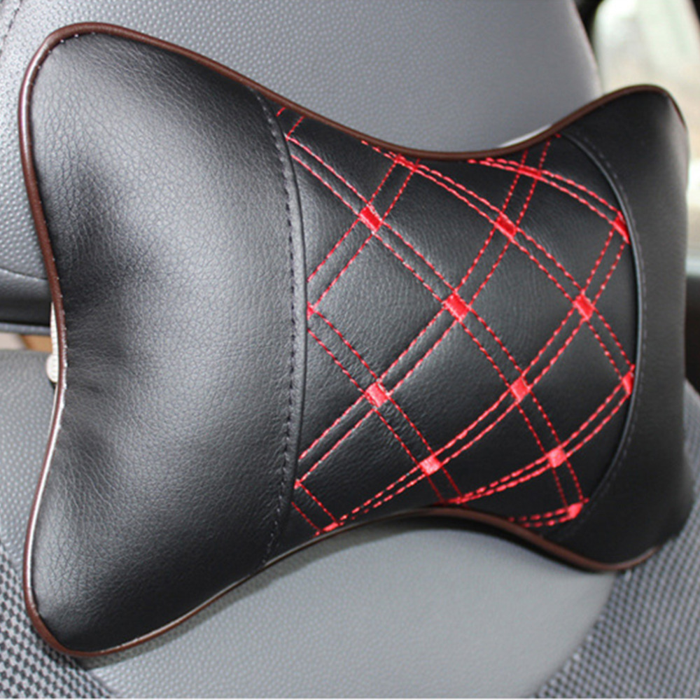PU & Cloth Excellent Durability Auto Safety Car Headrest Breathe Seat Head Neck Rest Pillow Universal Fit For All Vehicles Hot
