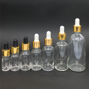 100pcs 5ml/10ml/15ml/20ml/30ML/50ml/100ml Reagent Eye Dropper transparent Glass Aromatherapy Liquid Pipette Bottle Refillable