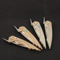 High Quality Folding Knife DC53 Blade HRC62 Brass Nickel Silver Handle Utility Pocket Knives EDC Tool