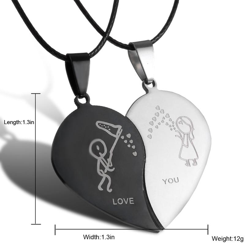 Fashion Broken Heart Ожерелье Ожерелье Қожа - Сәндік зергерлік бұйымдар - фото 6