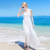 Women 100 Silk dress Beach dress 100% Natural Silk White dress V Neck Holiday summer dresses Free Shipping HOT Sell