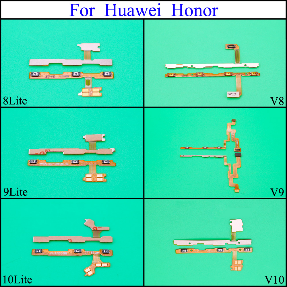 YuXi 1pcs Power On Off Volume Up Down Button Key Flex Cable For Huawei <font><b>Honor</b></font> 8 <font><b>9</b></font> 10 <font><b>Lite</b></font> Replacement Repair Spare <font><b>Parts</b></font> image