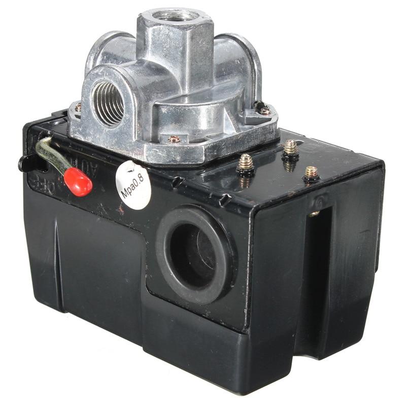 Heavy Duty Pressure Switch Control Valve Air Compressor 90 120PSI 4 Port 26 AMP Compressor Accessories