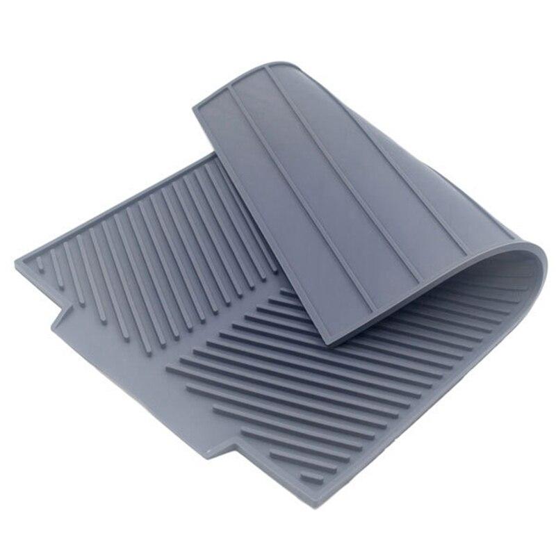 bandeja de almohadilla para platos de secado antideslizante resistente al calor para comedor cocina Alfombrilla de drenaje de silicona para tazas gris
