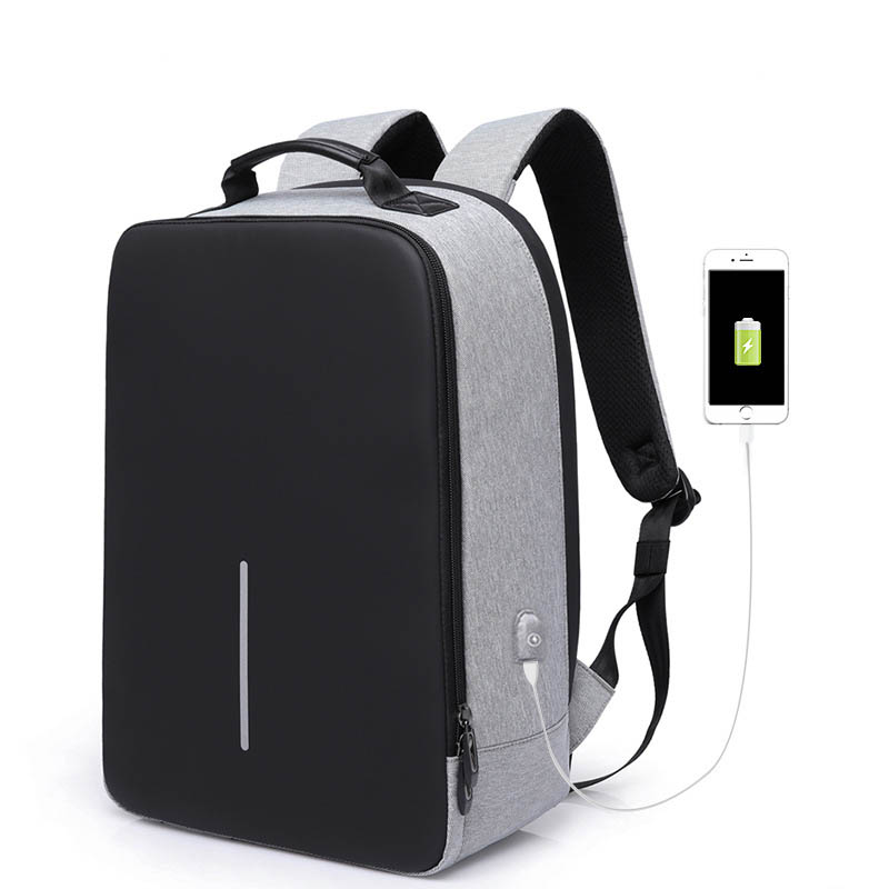 New Quality Solid color Backpack Laptop Backpack School Notebook Bag Oxford Waterproof Travel Backpack USB Charging Anti Theft baibu new men 15 6 laptop backpack anti theft backpack usb charging women school notebook bag oxford waterproof travel backpack