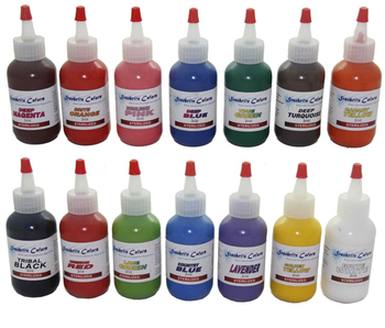 14pcs tattoo ink kit permanent makeup pigment set 60ml/bottle(2OZ) mix colors paint set for body makeup tattooing art
